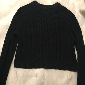 H&M Cableknit Cropped Sweater Size M